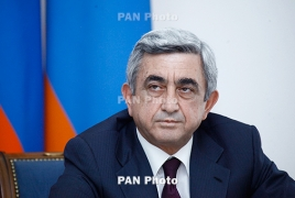 Саргсян направил соболезнования Путину в связи с крушением самолета в Сирии