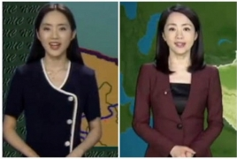 Chinese weather woman looks the same for 22 years