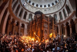 Armenian priest suggests holding Holy Fire ceremony in public