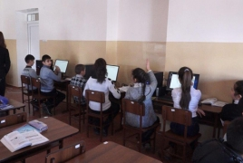 Rural Armenian school receives 10 new computers
