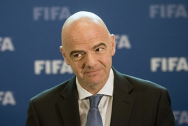 FIFA chief jokes about Russian footballers' negative drug test results