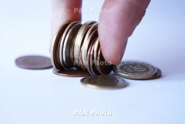 Armenia government debt fell in February