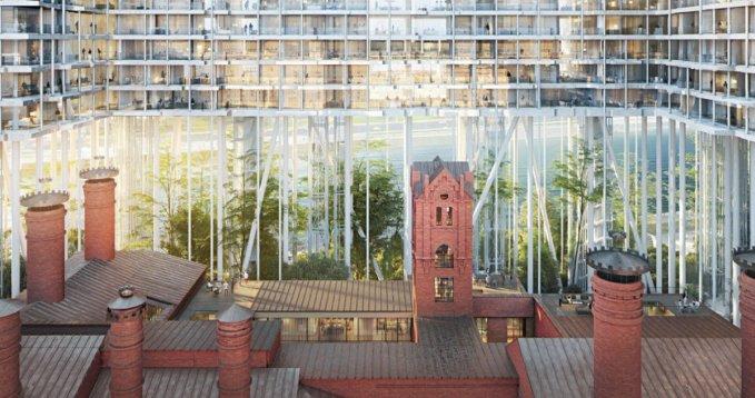 В Москве построят комплекс на 35-метровых колоннах