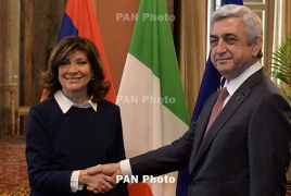 Armenian leader, Italian Senate president talk Karabakh in Rome