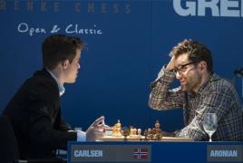 Aronian, Carlsen draw Grenke Chess Classic round 6