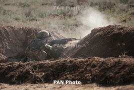 Azerbaijani troops fire towards Armenian positions from Nakhijevan