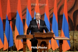 Armen Sarkissian sworn in as Armenia president