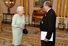 Queen Elizabeth II congratulates new Armenian president