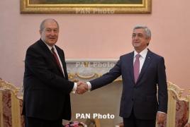 Армен Саркисян подписал указ о назначении Сержа Саргсяна премьером Армении