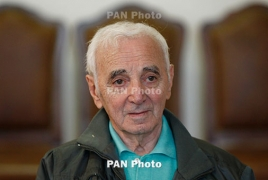 Charles Aznavour thanks Armenians for showing what humanism is