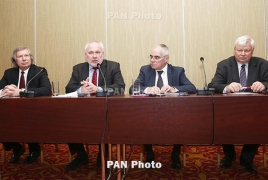 Azeri foreign minister, OSCE Minsk Group co-chairs talk Karabakh