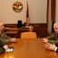 Karabakh president, Armenia defense chief talk army building process
