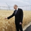 Asphalt laid for Azerbaijan's Aliyev so that he can touch the ears of wheat