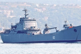 Russian warship delivering more military equipment to Syria