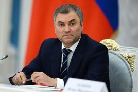 "Baku takes ""correct, constructive stance on Karabakh"" - Volodin"