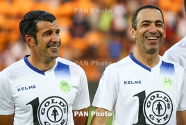 Luis Figo thanks Armenian fans for warm welcome