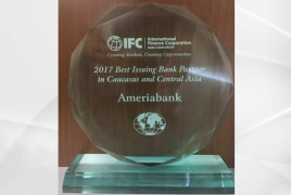 IFC: Ameriabank Best Issuing Bank Partner in Caucasus, Central Asia