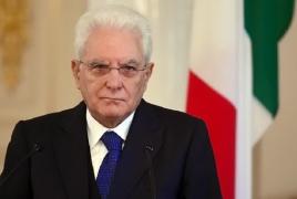 Президент Италии в Баку: Карабахский конфликт должен быть решен политическим путем