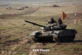 Tank Biathlon: Armenian tankmen finish first in their group
