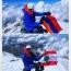 Armenian tricolor planted on Europe's highest peak