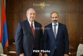 Armenia President, PM send messages over Italy bridge collapse