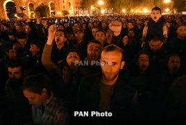 150,000 attended Armenia PM rally on his 100 days of premiership