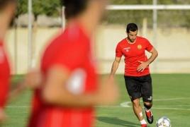 Mkhitaryan training with Armenia team ahead of Liechtenstein match