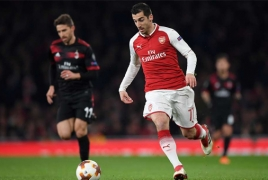 Henrikh Mkhitaryan wins his first Goal of the Month poll at Arsenal