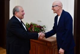 Armenia president hosts prominent economist Kjell A. Nordström