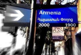 Argentina's Córdoba installs bilingual street name signs to honor Armenia