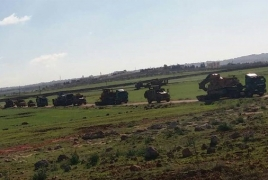 Large Turkish army convoy reportedly enters Idlib province