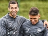 Torreira, Mkhitaryan all smiles in Arsenal training session
