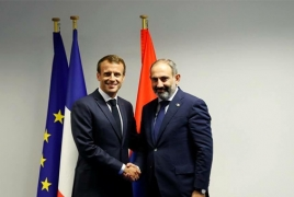 Pashinyan-Macron meeting currently underway in Paris