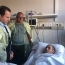Defense Minister visits soldier wounded on border with Azerbaijan