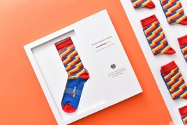 Armenian designer prepares special socks for Canadian PM