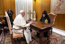 Armenian Catholicos meets Pope Francis in Vatican