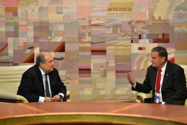 Armenian President meets former U.S. National Security Advisor
