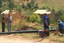 New irrigation system launched in Armenia's Gnishik community