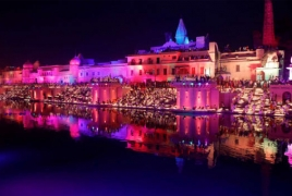 Indian city breaks world record with 300,000 oil lamps