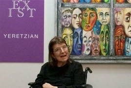 Disabled Armenian American artist writes a book using her eyes