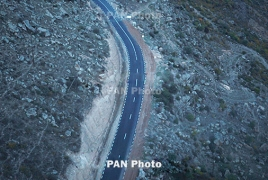 Armenia repairing road connecting Yerevan to Iranian border