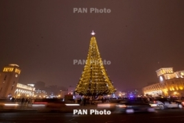 New artificial Christmas tree will light up Yerevan this year