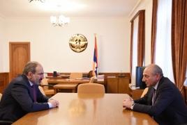 Artsakh President, Armenian PM meet in Yerevan