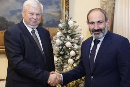 Пашинян и Каспршик обсудили вопросы мирных переговоров вокруг карабахского конфликта