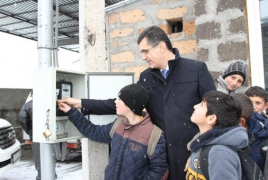 Armenia's Tsovak community provided with outdoor lighting