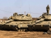 Israeli tank rolls across highway as crew falls asleep inside