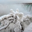 Part of Niagara Falls freezes to create a stunning view