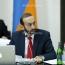 Спикера парламента Армении пригласили в Иран