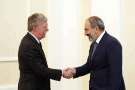 Bolton reveals details from phone call with Pashinyan