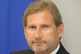 EU Commissioner Johannes Hahn will visit Armenia next week